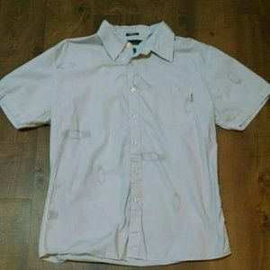 Oakley Slim Fit Striped Button Front Shirt